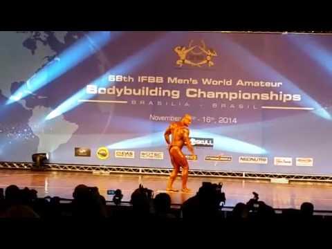 José Reartes en el Campeonato del Mundo Senior IFBB 2014