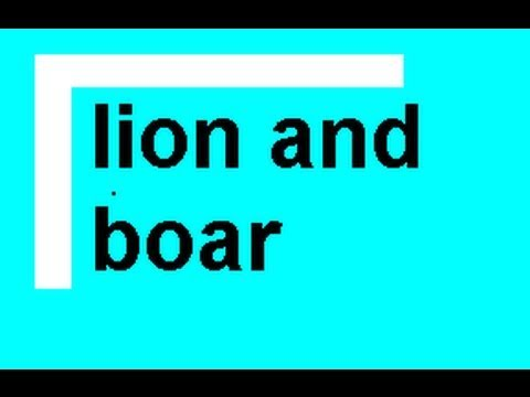 The Boar and the Lion - Aesop's Fables -  ESL British English Pronunciation