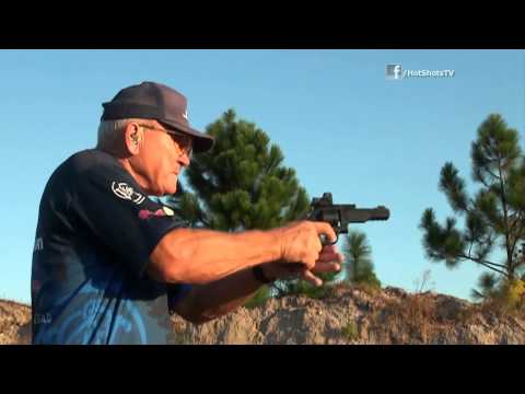 Jerry Miculek deals with the