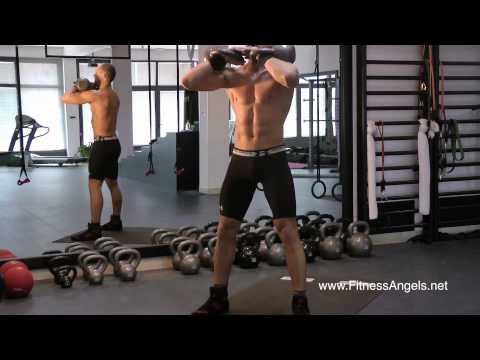 Srednje teški trening bez pauze sa girjama: rutina 1