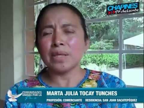 ¿Cómo conseguimos la paz y el desarrollo para nuestras comunidades? Marta Julia Tocay Tunches