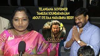 Telangana Governor Tamilisai Soundararajan About Sye Raa Narasimha Reddy Megastar Chiranjeevi's - IGTELUGU