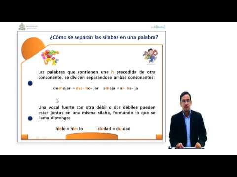 Ibertel. Curso de Español 23. 6º Grado. La Sílaba