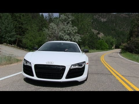 2012 Audi R8 5.2 V10 Quattro 0-60 MPH Mile High Performance Test