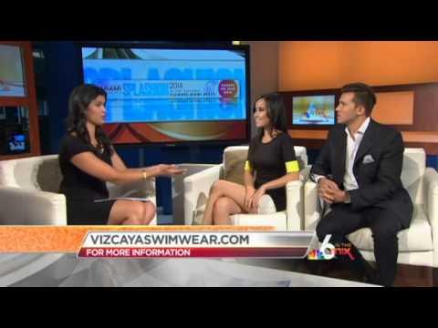 NBC 6 South Florida: Lisa Opie and Franz Orban of Vizcaya Swimwear talk Splashion