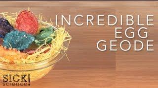 Ciencia divertida: geodas hechas con huevos
