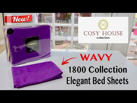 😍 COSY HOUSE  Elegant Designer 1800 Collection Bed Sheets (Wavy) - unboxing ✅