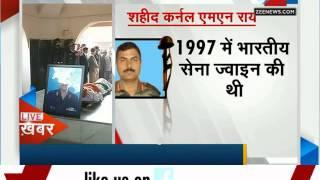 Tributes paid to martyred Colonel MN Rai in Delhi - ZEENEWS