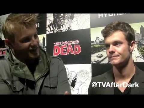 Alexander Ludwig, Jack Quaid and Dayo Okeniyi Walking Dead Survival Tips with TV After Dark
