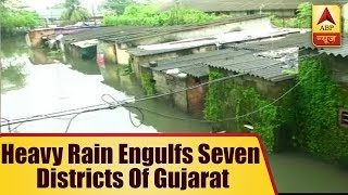 Heavy rain engulfs seven districts of Gujarat, 28 dead - ABPNEWSTV