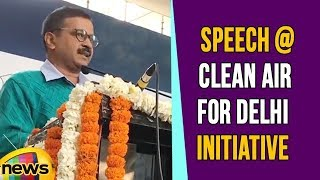Arvind Kejriwal Speech at Clean Air for Delhi Initiative, Reduce Air Pollution Index From 300 to 200 - MANGONEWS