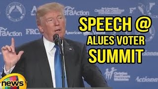 President Trump Delivers Remarks to the 2017 Values Voter Summit | Mango News - MANGONEWS