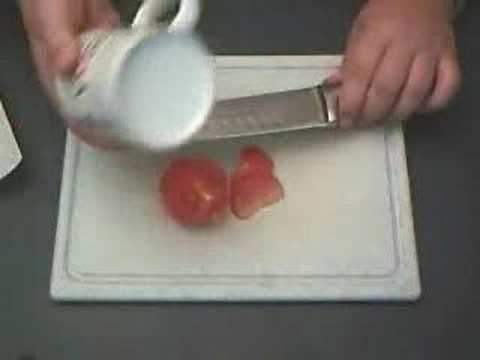 How to sharpen your knife with a cup.