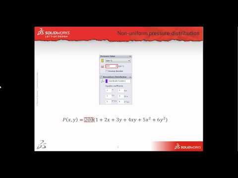 Non-Uniform Pressure in SolidWorks Simulation