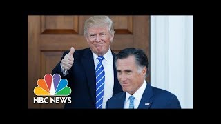 Will Mitt Romney's Potential Senate Run Reignite Donald Trump Feud? | NBC News - NBCNEWS