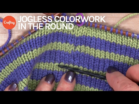 Knitter Secrets: Jogless Colorwork in the Round | Striped Knitting Tutorial with Faina Goberstein