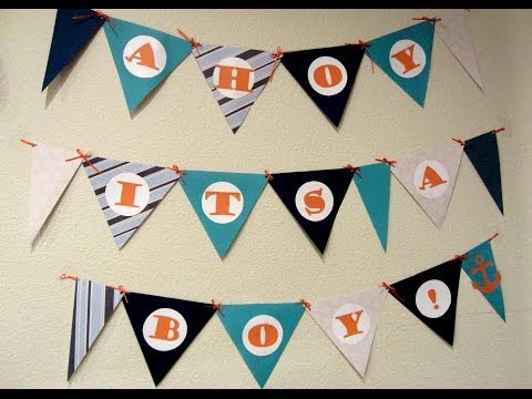 DIY BABY SHOWER BANNER! - SwappFamily