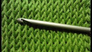 Тунисское вязание Лицевое полотно Tunisian crochet cover sheet