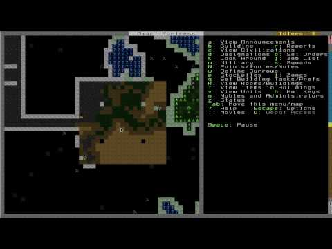 Let's Play: Dwarf Fortress 2010 Part 7: Underground Irrigation and Farming