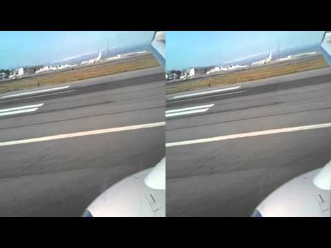 3D SFO HD Continental Airlines 737-800 Landing San Francisco Boeing United