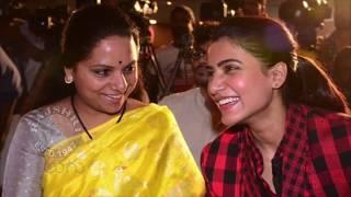 Akkineni Samantha And MP Kavitha At U Turn Success Meet Photos - RAJSHRITELUGU