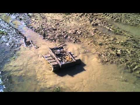 #28 Homemade RC tracked vehicle ( UGV ) - #3 Let's go mudding - J.Laci