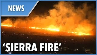 "New fire dubbed ""Sierra Fire"" develops overnight in Fontana - THESUNNEWSPAPER"