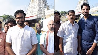 Manchu Vishnu,  Allari Naresh Visits Tirumala, Prays For Maharshi Movie Success - RAJSHRITELUGU