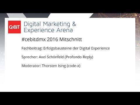 """#cebitdmx: Fachbeitrag """"Erfolgsbausteine der Digital Experience"""""""
