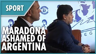 Diego Maradona ashamed of Argentina's performance at World Cup 2018 - THESUNNEWSPAPER