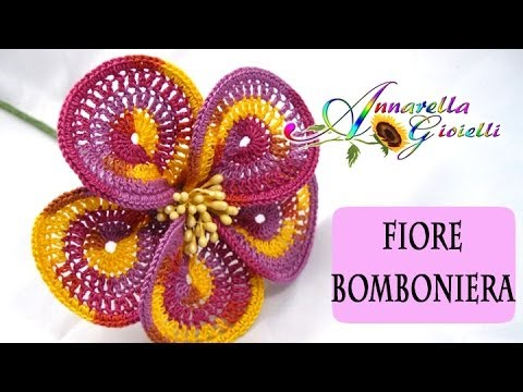 Tutorial Uncinetto | Fiore Bomboniera | How to crochet a flower