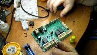 Стиральная машина Индезит, ремонт блока управления
