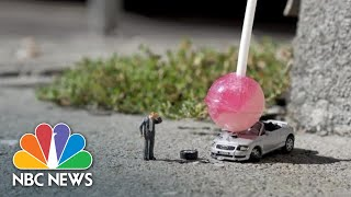 Artist Creates Miniature Dramas On London's Streets | NBC News - NBCNEWS