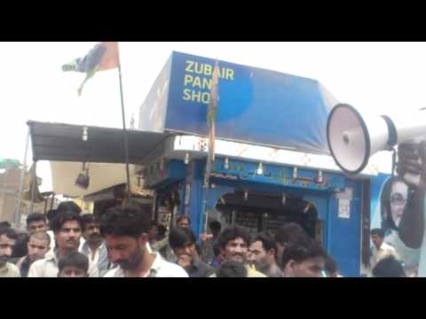 sindh university PST pass candidates protesting tando muhammad khan 07 06 2012 part 4