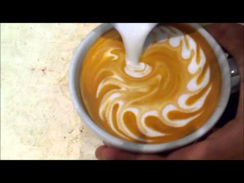 Wave Heart Latte Art