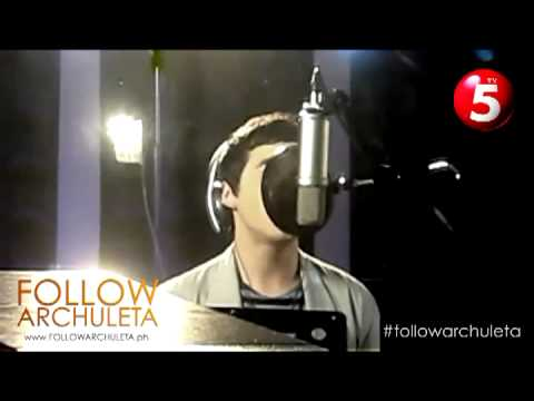 "David  Archuleta sings ""Nandito Ako"" -  a first peek"