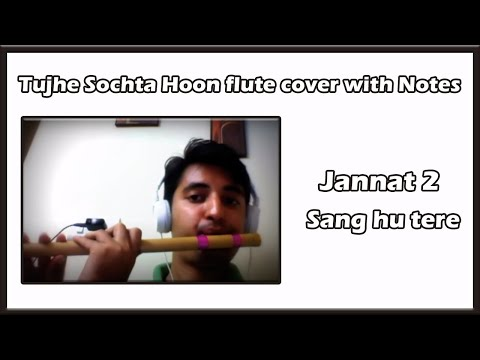 Tujhe Sochta Hoon flute cover with Notes (Jannat 2) (Sang hu tere)