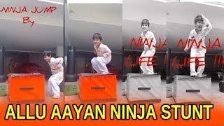 Allu Arjun Son Allu Ayaan Ninja Jump | Allu Ayaan Stunt Video - RAJSHRITELUGU
