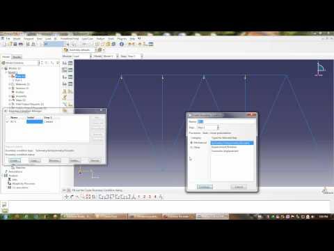Basic Truss Analysis with Abaqus CAE