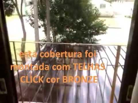Telhas de Policarbonato Click Bronze -  BAY WINDOW- Polysolution