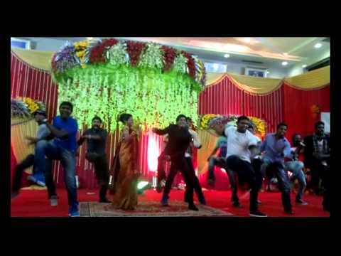 SATHISH & SANGEETHA MARRIAGE SURPRISE WEDDING DANCE--MOBILE VERSION -RAJU