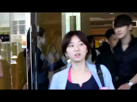 (fancam)110728 Donghae Siwon leaving hotel
