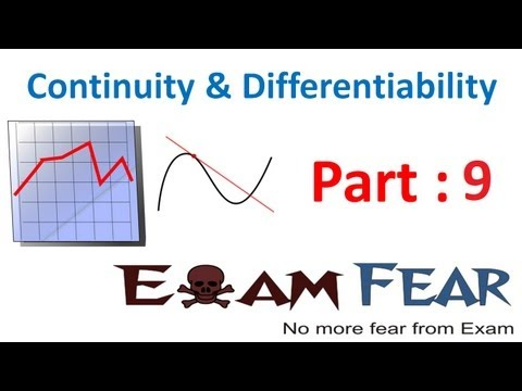 Maths Continuity & Differentiability part 9 (Example Continuous function) CBSE Mathematics XII 12