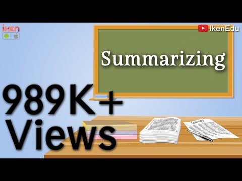How to write a summary for cxc english