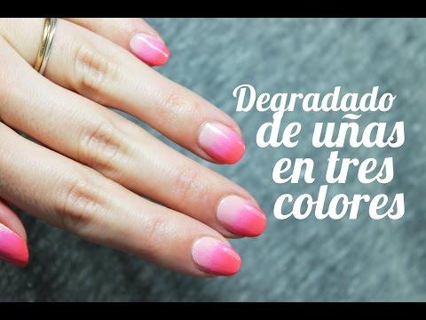 Cómo hacer un degradado en las uñas paso a paso con tres colores | Nail Art