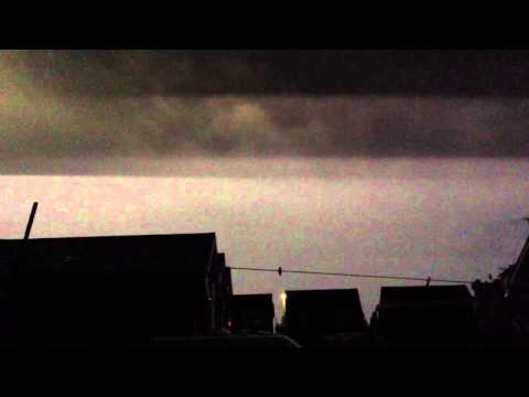 Lighting storm Hayling Island July 2014