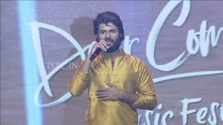 Vijay Devarakonda Superb Speech At Dear Comrade Music Festival - TFPC