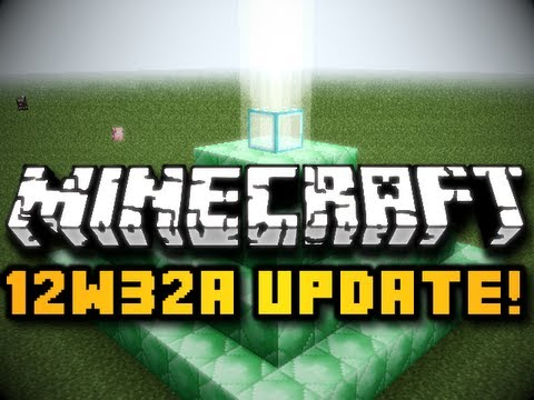 Minecraft Snapshot 12w32a UPDATE! - Beacon Blocks & Curing Infected Villagers