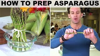 How to Prep Asparagus with James Briscione | Food Network - FOODNETWORKTV