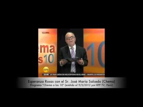 Esperanza Rosas con el Sr. José María Salcedo (RPP TV,
